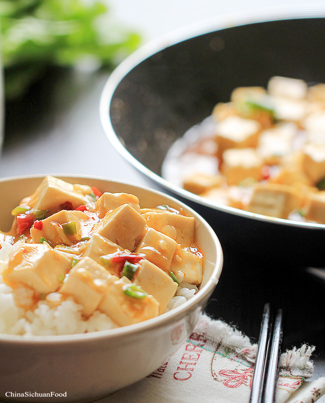 tofu in hot garlic sauce