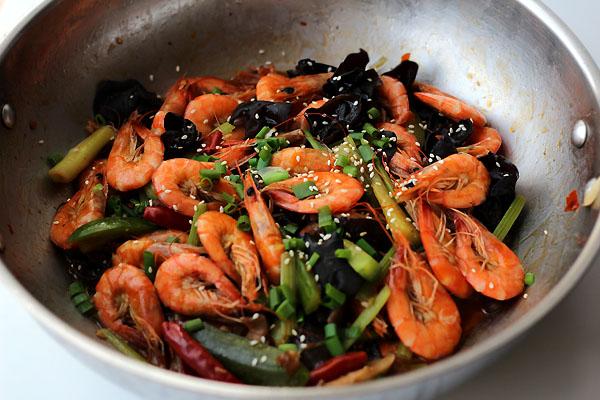 Shrimp dry pot