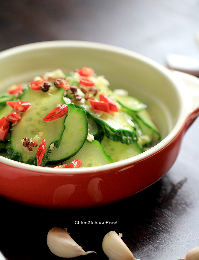 Spicy cucumber salad