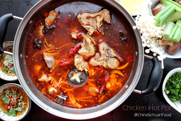 spicy chicken hot pot