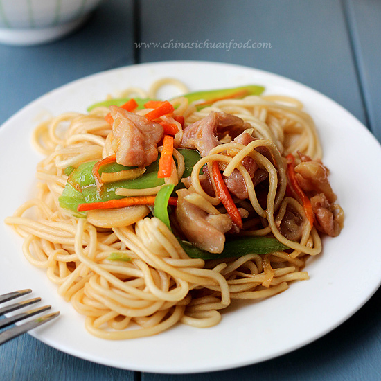 Chicken chow mein china sichuan food forumfinder Image collections