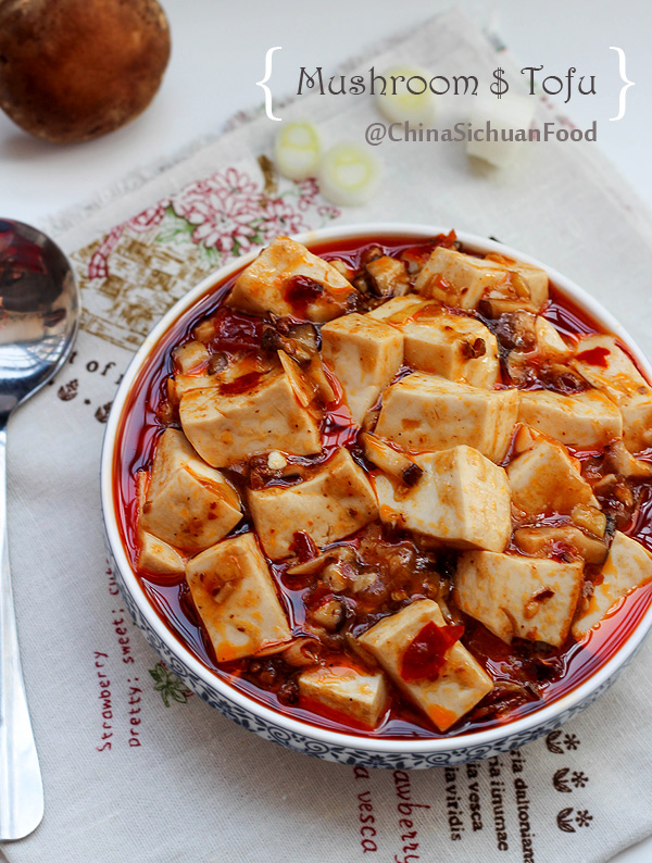Vegetarian mapo tofu china sichuan food mushroom mapo tofuchinasichuanfood forumfinder
