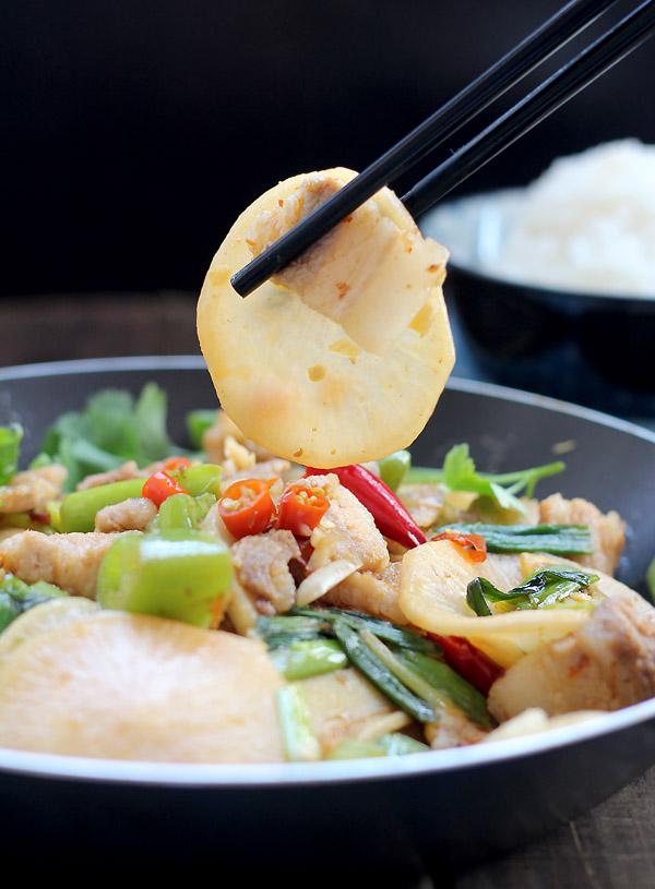 pork dry pot with white radish|ChinaSichuanFood