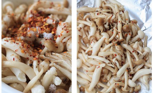 beech mushroom step