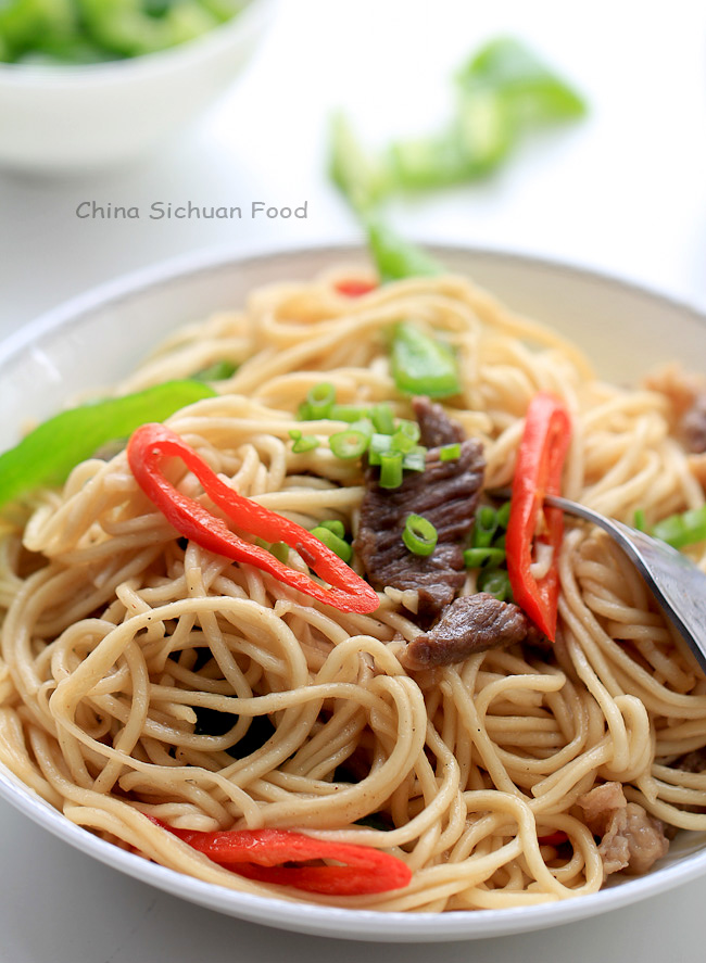 Beef chow mien