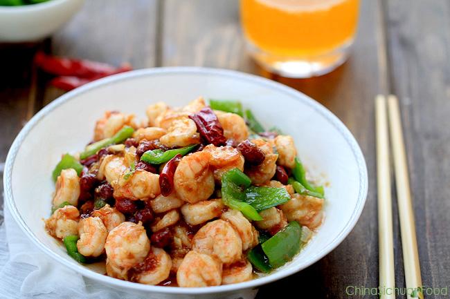 Kung Pao Shrimp (Kung Pao Prawn) ChinaSichuanFood