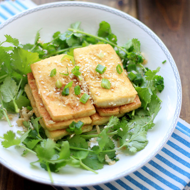 Pan-fried Tofu With Sesame