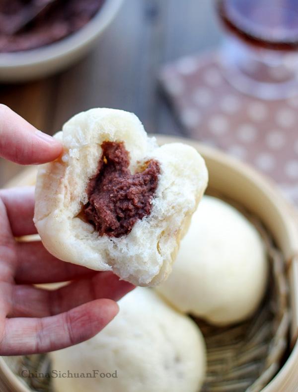 Homemade red bean buns