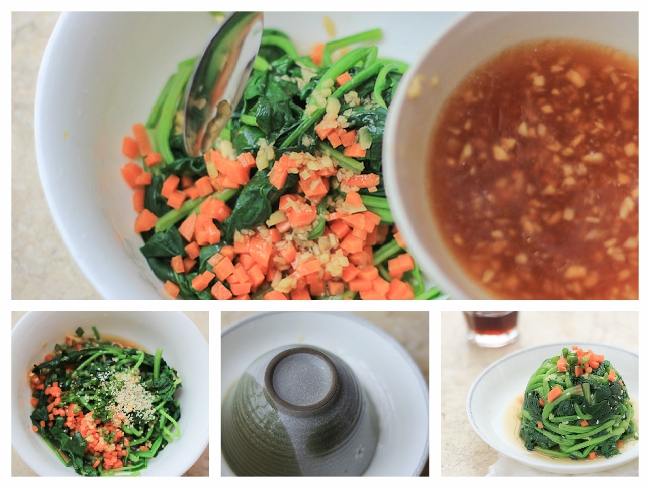 Sesame Ginger Dressing Spinach ChinaSichuanFood