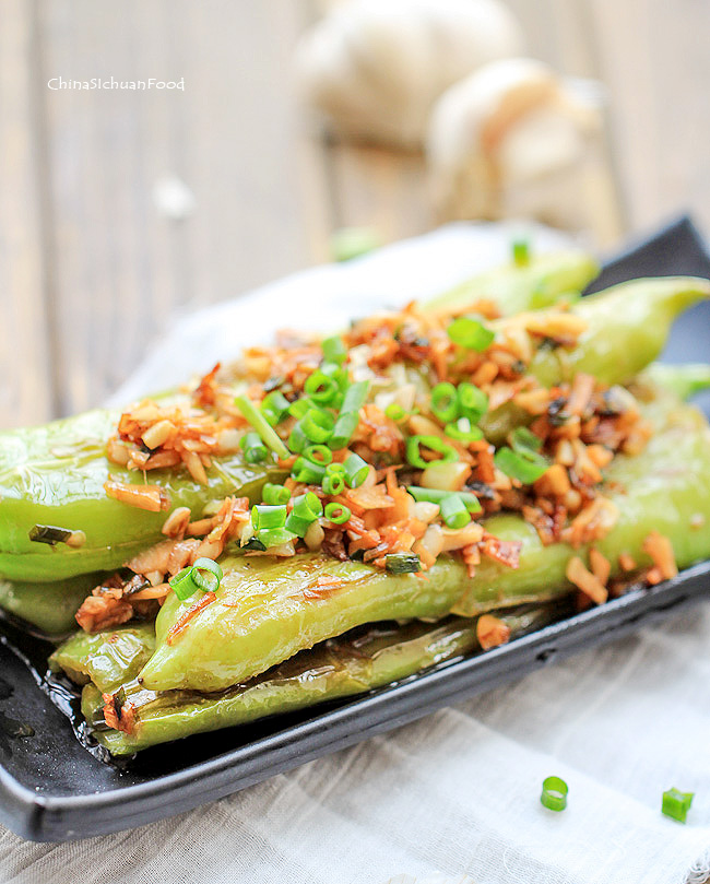 Chinese Sautéed Green Peppers-Tiger Skin Pepper