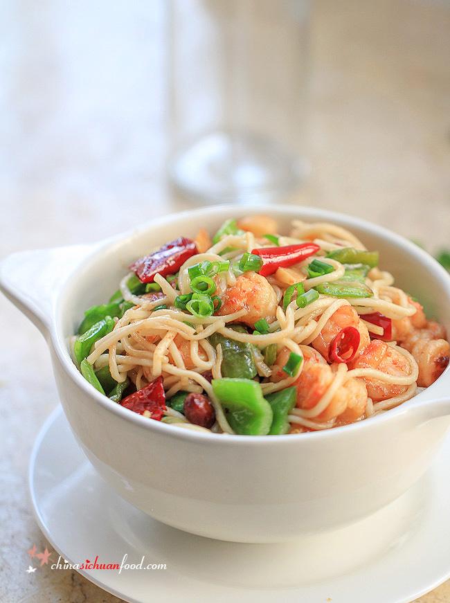 Easy shrimp chow mein china sichuan food easy shrimp chow mein freerunsca Gallery