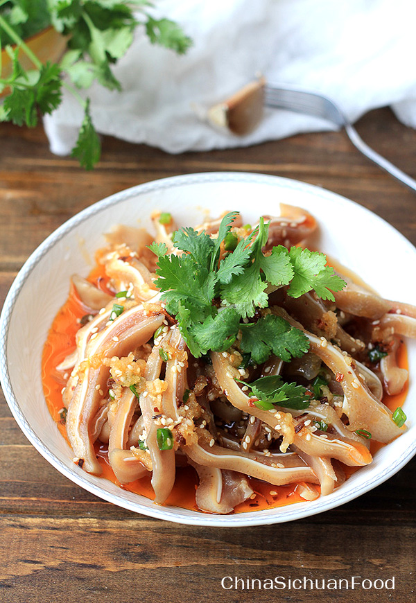 Chinese pig ear salad china sichuan food chinese pig ear salad forumfinder Choice Image