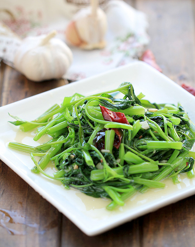 Chinese water spinach stir frythjpg