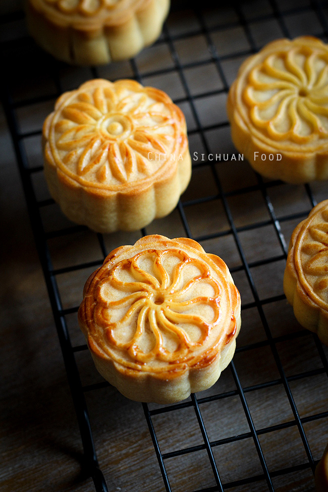 Chinese Mooncake Yue Bingtraditional Version China Sichuan Food