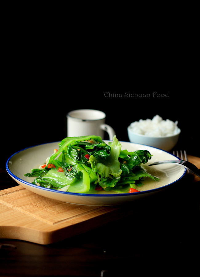 healthy mustard green stir fry