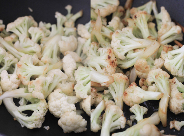 Dry fried Cauliflower—Gan Bian Cauliflower