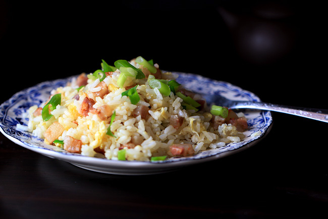 Chinese sausage fried rice-