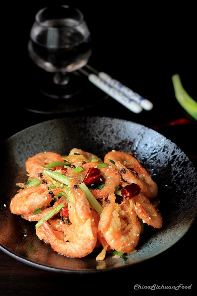 sezchuan shrimp--spicy crispy shrimp