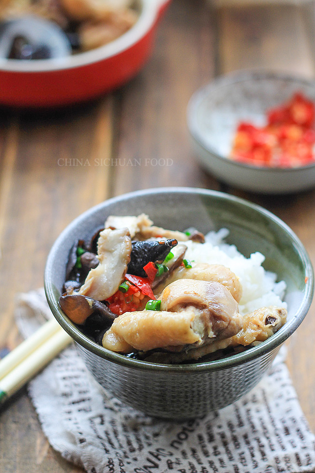 Steamed chicken with chinese mushroom china sichuan food steamed chicken with chinese mushrooms forumfinder Choice Image