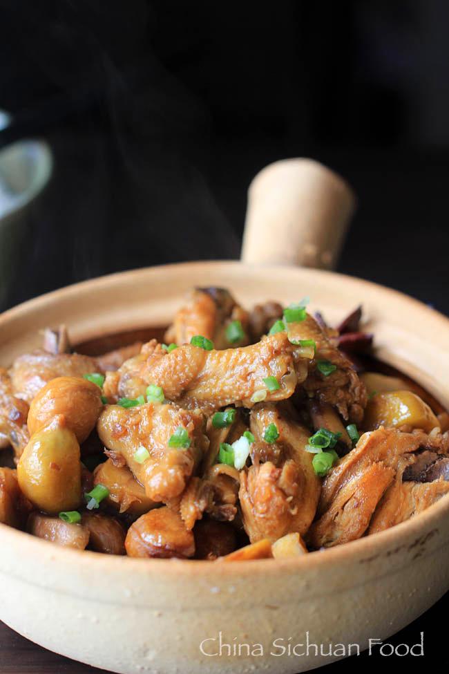 Braised chicken with chestnut china sichuan food braised chicken with chesenut forumfinder Images