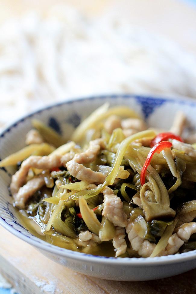 Pickled Mustard Green Noodles