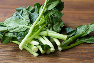 Chinese green Yu Choy Stir Fry