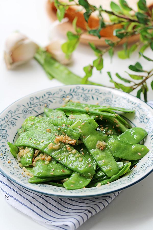 garlic snow peas stir fry