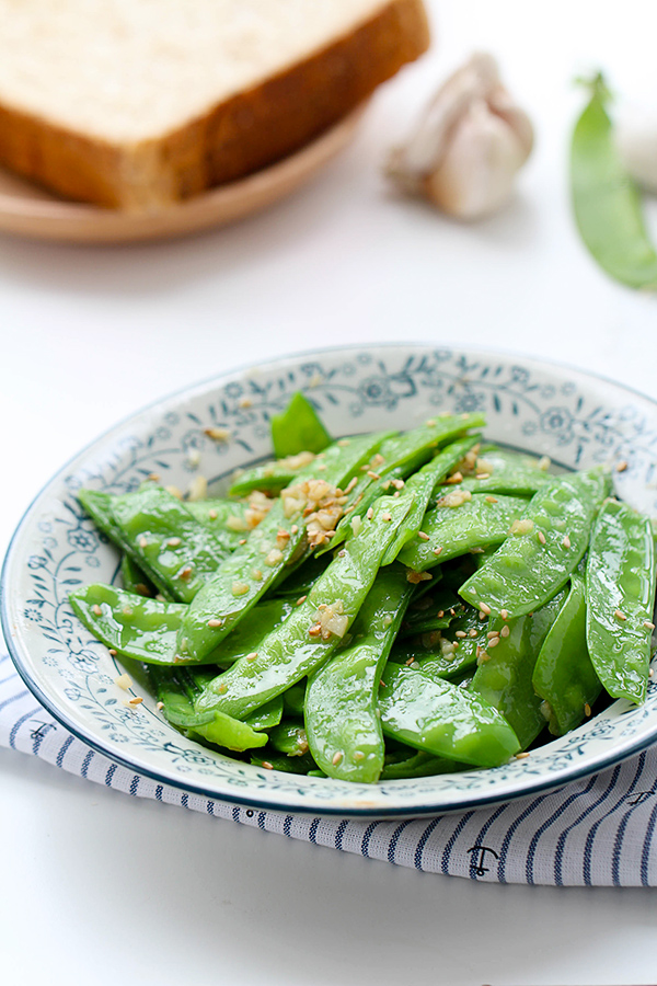 garlic snow peas stir fry