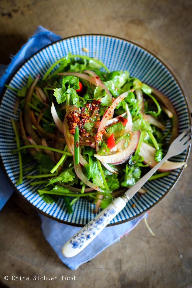 Chinese Coriander Salad
