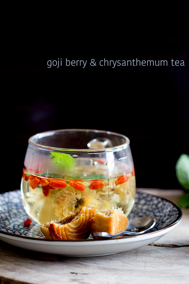 Chrysanthemum Tea With Goji Berry China Sichuan Food