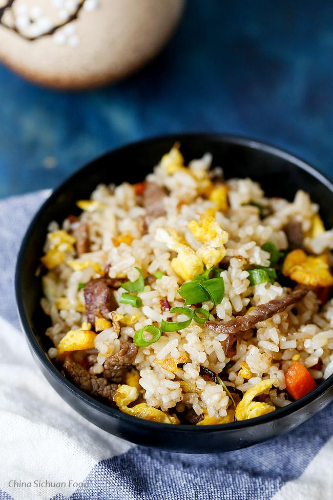 Beef fried rice china sichuan food beef fried rice forumfinder Images