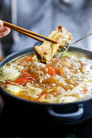 Chinese hot pot e-cookbook-curry rib hot pot