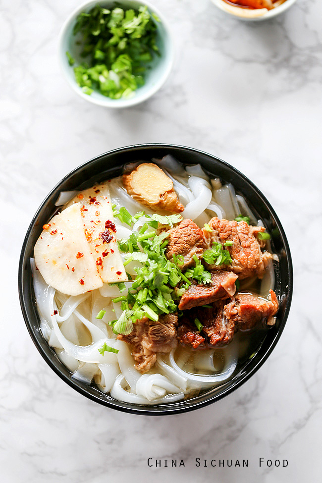 Beef Ho Fun Noodle Soup China Sichuan Food