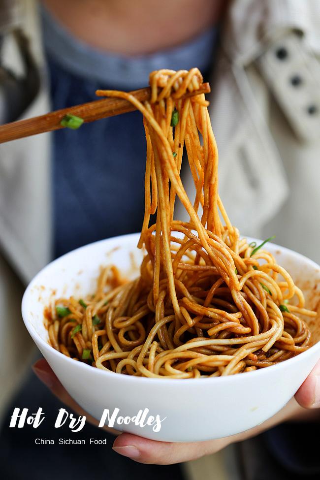 wuhan noodles, hot sesame noodles