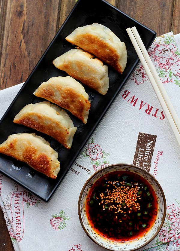 chive and pork potstickers