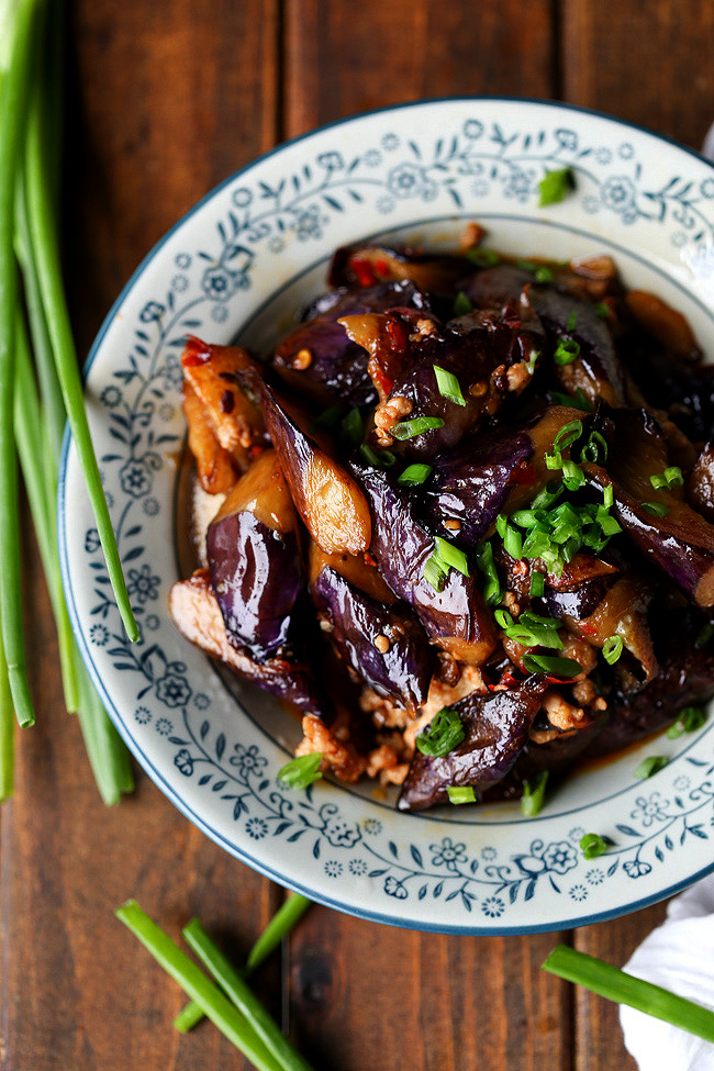 Japanese Eggplant with Chicken & Thai Basil | Recipe ... |Spicy Eggplant Pork Recipe