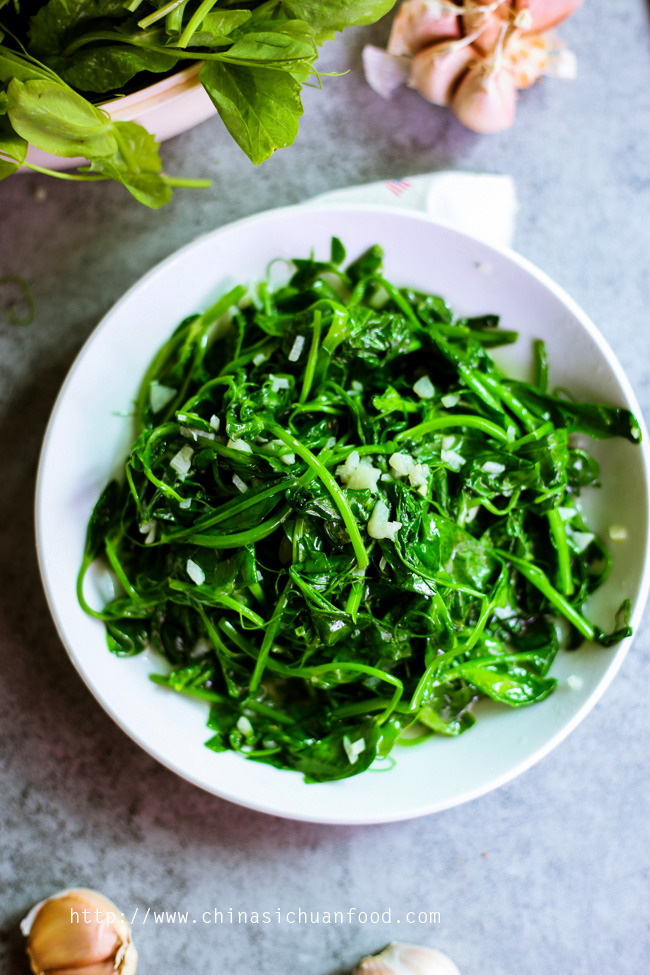 Snow Pea Leaves Stir Fried with Garlic