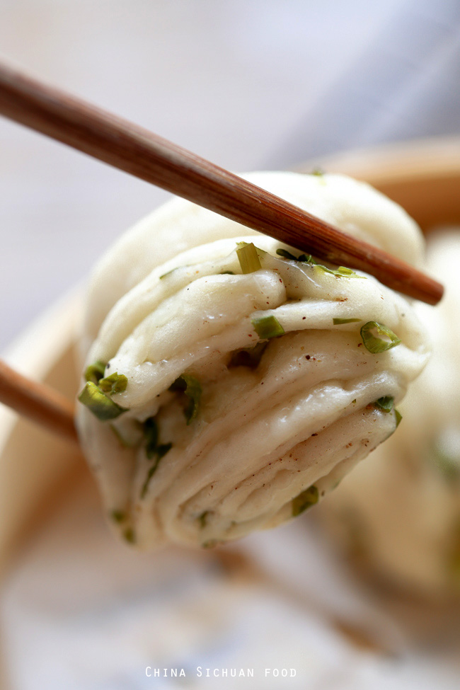 Steamed Scallion Buns-Hua Juan
