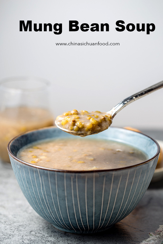 mung bean soup- a traditional Chinese summer soup dessert