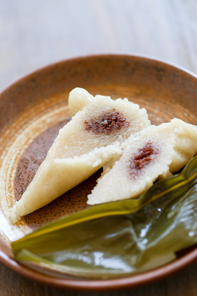 red bean paste zongzi
