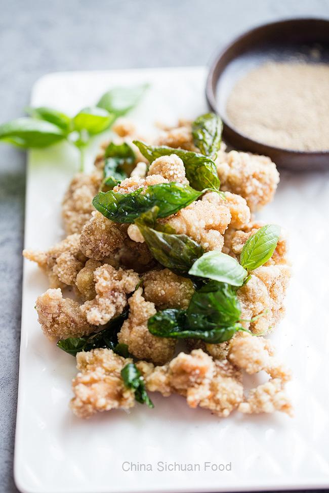 Taiwanese Salt and pepper chicken-Basil peppercorn chicken