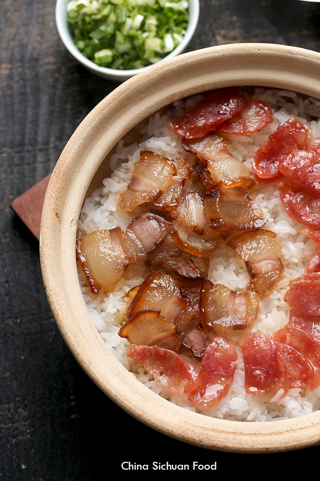 Clay pot rice china sichuan food chinese cured pork belly chinese bacon clay pot rice forumfinder Images