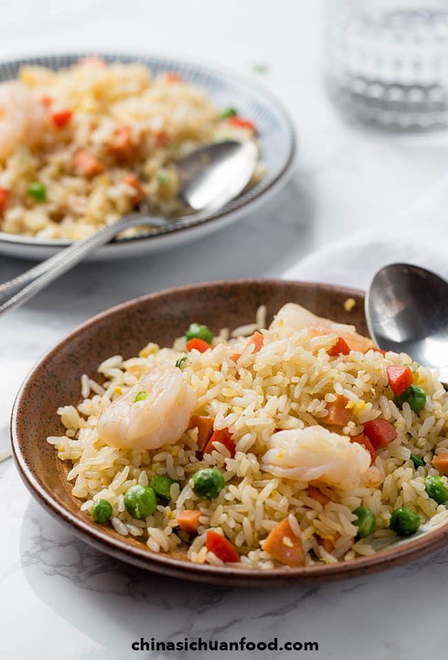 Chinese fried rice (Yangzhou fried rice) | chinasichuanfood.com