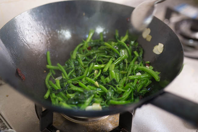 water spinach stir fry