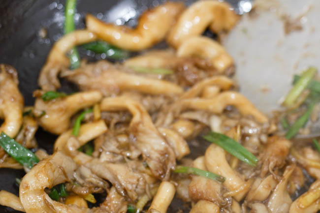 oyster mushroom stir fry | Chinasichuanfood